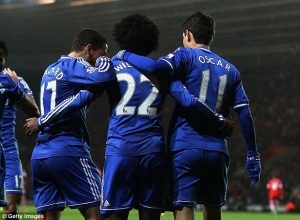 The Deadly Trio: Oscar, Hazard and Willian are I'm scintillating form and it'd be unfair to faze anyone out for Mata
